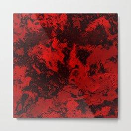 Marble-Red Metal Print