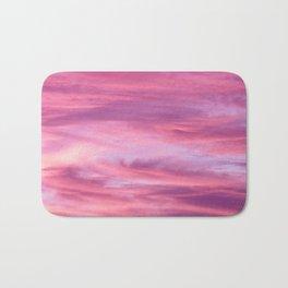 Pink Lavender Clouds Bath Mat