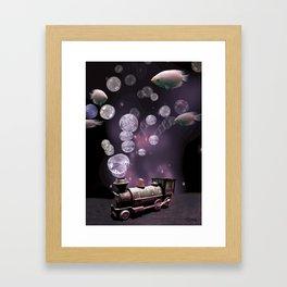 Tren Burbuja Framed Art Print