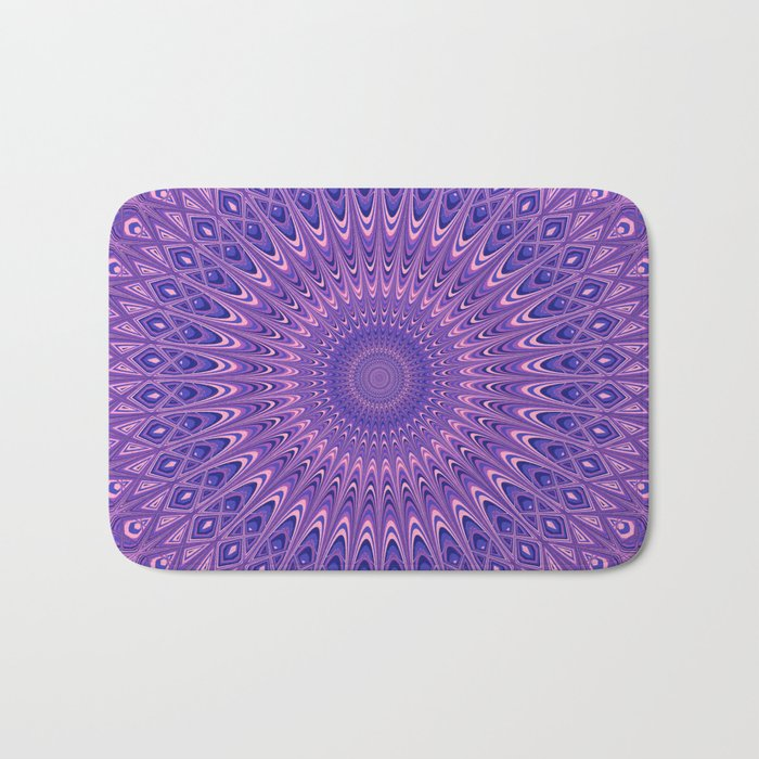 Purple mandala 2 Bath Mat