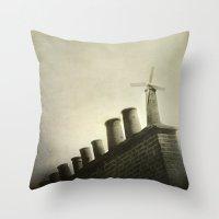 uk Throw Pillows featuring UK by Nikoletta Bati