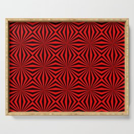 Red Abstract Modern Pattern Art Design Serving Tray