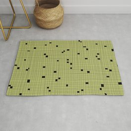 Light Green and Black Grid - Missing Pieces Rug