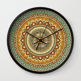 Hippie Mandala 10 Wall Clock
