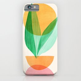 Summer Stack / Abstract Plant Illustration iPhone Case