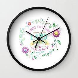 Psalm 37:5 Wall Clock