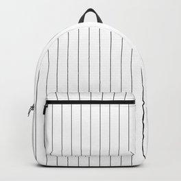 White And Black Pinstripes Lines Stripes Minimalist Stripe Line Backpack