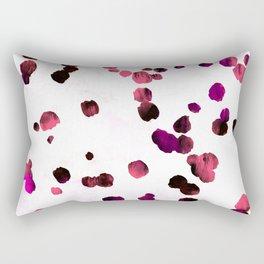 Grunge rose pink dirty confetti  Rectangular Pillow