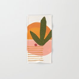 Desert Sunset With Cactus and Cherry Hand & Bath Towel
