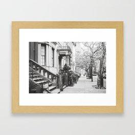 Brooklyn Stoop Framed Art Print