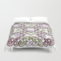 celtic Duvet Covers featuring Celtic Knotwork by Carrie at Dendryad Art