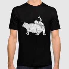 The Known Practice of using Domesticated Bears as cushions while drinking.  Mens Fitted Tee SMALL Black