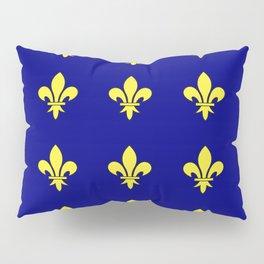 Fleur de lys 1-lis,lily,monarchy,king,queen,monarquia. Pillow Sham