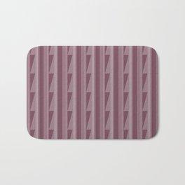 Modern Geometric Pattern 8 in Mulberry Bath Mat