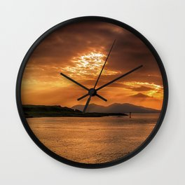 Evenings End Wall Clock