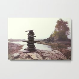 West Coast Inukshuk  #decor #society6 #buyart Metal Print