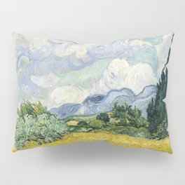 Wheatfield Wth Cypresses Van Gogh July 1989 Pillow Sham
