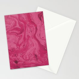 Pink Raspberry Marble Pattern Stationery Cards