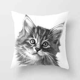 Maine Coon kitten G114 Throw Pillow