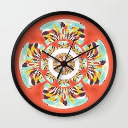 Colorful mandala Wall Clock