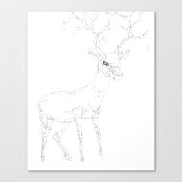 Geo Stag Canvas Print