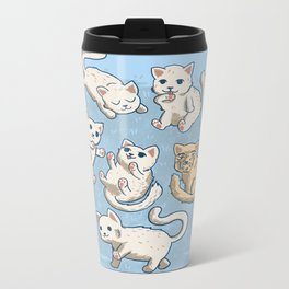 Cute Kittens Metal Travel Mug
