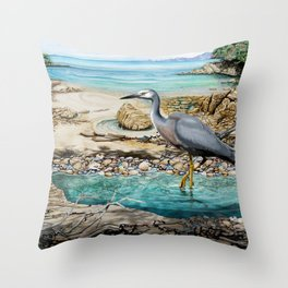 Lunch at the Beach Throw Pillow