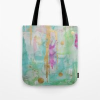 macaroon Tote Bags featuring Mint Macaroon by Limezinnias Design