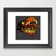 Burgermonster Framed Art Print