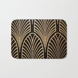 Art nouveau Black,bronze,gold,art deco,vintage,elegant,chic,belle époque Bath Mat