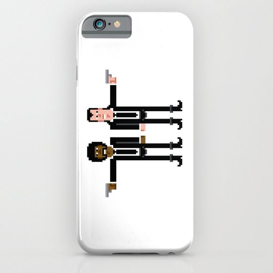 Pixel Pulp Fiction Characters iPhone & iPod Case