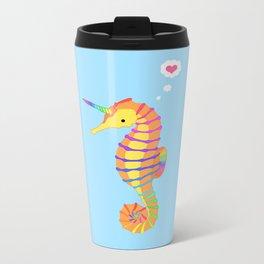 Sea-Unicorn Metal Travel Mug