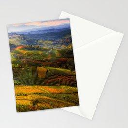 Tuscany, italian wineyards Stationery Cards