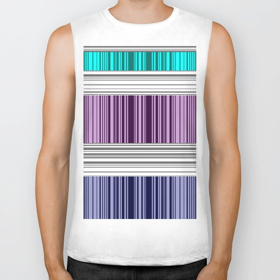 The colorful stripes . Biker Tank