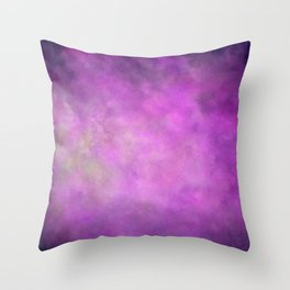 Abstract Soft Watercolor Gradient Ombre Blend 5 Light and Dark Purple Throw Pillow
