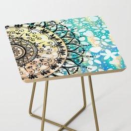 Flower Mandala Pattern Side Table