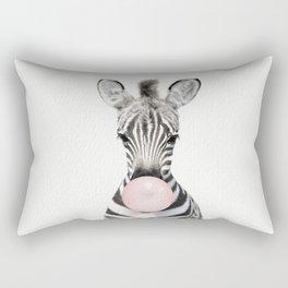 Bubble Gum Zebra Rectangular Pillow