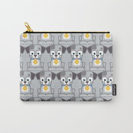 Super cute animals - Cute Grey Silver Puppy Dog Carry-All Pouch