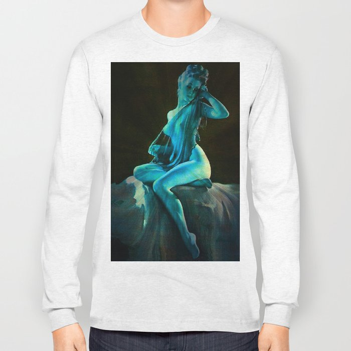 pin UP Girl Blue Dreams Long Sleeve T-shirt
