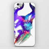 maleficent iPhone & iPod Skins featuring Maleficent by Ryky