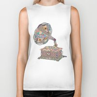 retro Biker Tanks featuring SEEING SOUND by Bianca Green