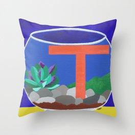 T is for Terrarium  Throw Pillow