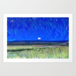 Mongolia Plains  Meadow Art Print