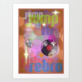 Jump On Retro Art Print