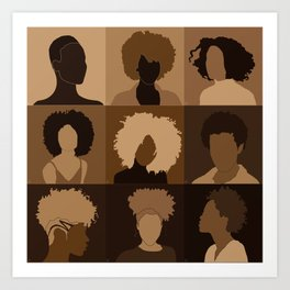 FOR BROWN GIRLS COLLECTION COLLAGE Art Print