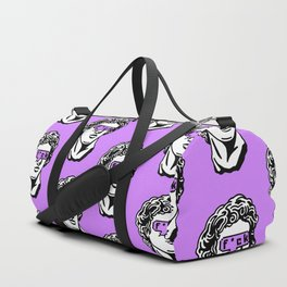 Caesar's Disappointment on Purple Background Duffle Bag