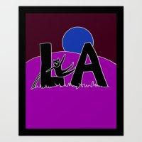 L.A. Catnap Art Print