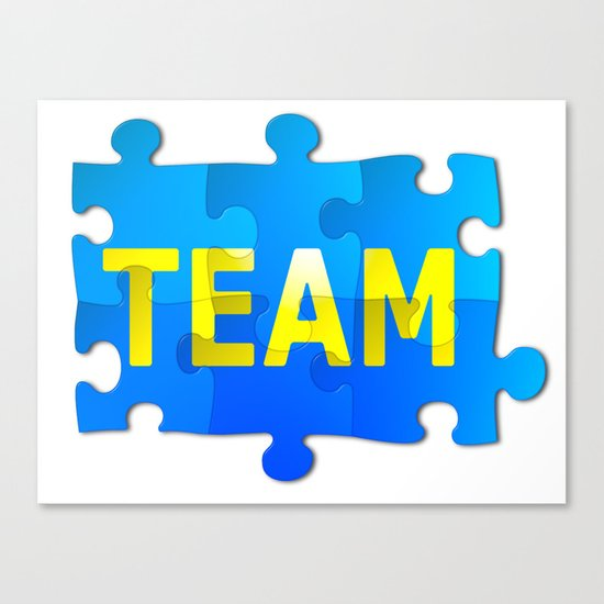 Team Jigsaw Puzzle Canvas Print