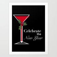new year Art Prints featuring New Year by Sweet Colors Gallery
