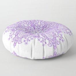 Spring Garden Mandala Bright Ultra Violet Bright Floor Pillow